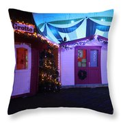 Santa's Grotto In The Winter Gardens Bournemouth Throw Pillow