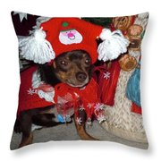 Santa's Helper Throw Pillow