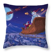Santa's Helper Throw Pillow