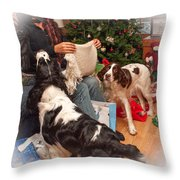Santa's Helpers Throw Pillow