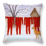 Santa's Long Johns Throw Pillow