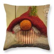Santas Nose Throw Pillow