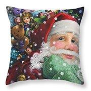 Santa's Toys Throw Pillow
