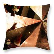 Santa's Window Washing Elves Throw Pillow