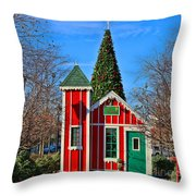 Santas Workshop Throw Pillow