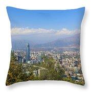 Santiago  Chile Throw Pillow