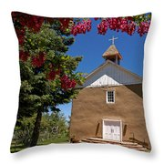 Santisima De Trinidad Mission Church Throw Pillow