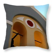 Santorini 13 Throw Pillow