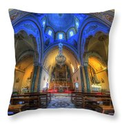 Santorini Cathedral  Throw Pillow