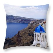 Santorini Panorama 2 Throw Pillow