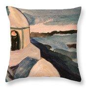 Santorini View Throw Pillow