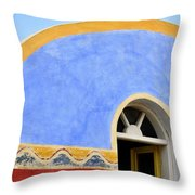 Santorini Window Throw Pillow