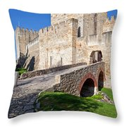 Sao Jorge Castle In Lisbon Throw Pillow