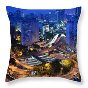 Sao Paulo Skyline - Downtown Throw Pillow