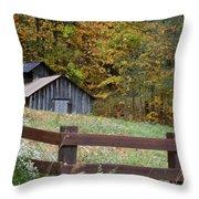 Sap Barn Or House Throw Pillow