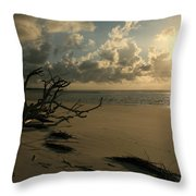 Sapelo Sunrise Throw Pillow