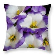 Sapphire Bluechip Lisianthus Throw Pillow