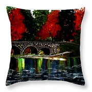 Sapphire In Color Throw Pillow