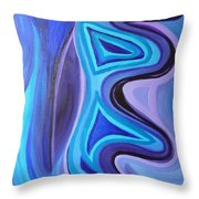 Sapphire Passion - Luminescent Light Throw Pillow
