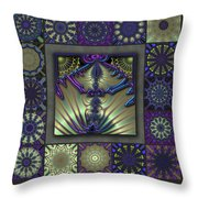 Sapphire Wind Redux  Throw Pillow