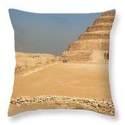 Saqqara Step Pyramid Throw Pillow