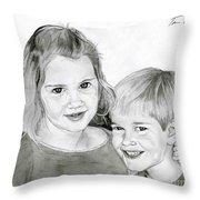 Sarah And Matt Throw Pillow