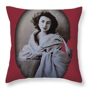 Sarah Bernhardt Photo By Nadar C.1860 Throw Pillow