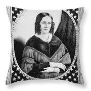 Sarah Childress Polk (1803-1891) Throw Pillow