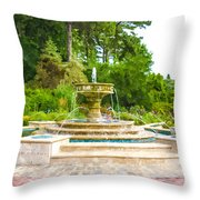 Sarah Lee Baker Perennial Garden 5 Throw Pillow
