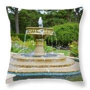 Sarah Lee Baker Perennial Garden 7 Throw Pillow