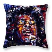 Sarah Vaughan Jazz Face Series Throw Pillow