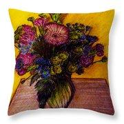 Sarah's Sweet 16 Flowers Throw Pillow