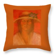 Sara's Spring Hat Throw Pillow