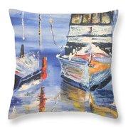 Sarasota Florida Marina Throw Pillow