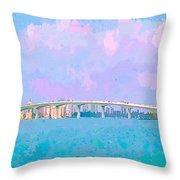 Sarasota Via Ringling Bridge Throw Pillow