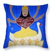 Sarasvati Throw Pillow