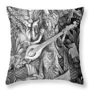 Saraswati - Supreme Goddess Throw Pillow