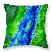 Saratoga Map Art Throw Pillow