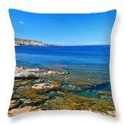 Sardinia - Shore In San Pietro Island Throw Pillow
