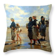 Sargent's En Route La Peche -- Setting Out To Fish Throw Pillow