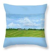 Saskatchewan Summer Throw Pillow
