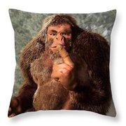 Sasquatch Shush Throw Pillow