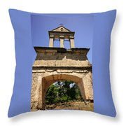 Sassia Monastery Bell Tower Throw Pillow