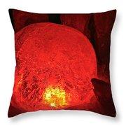 Satan's Crystal Ball Throw Pillow