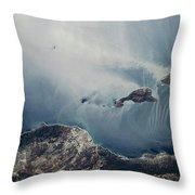 Satellite View Of California Coastline Throw Pillow