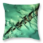 Satellite View Of Cays In North Throw Pillow