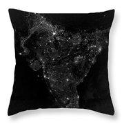 Satellite View Of City, Village Throw Pillow