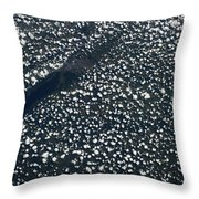 Satellite View Of Scattered Clouds Throw Pillow