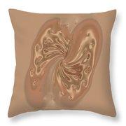 Satin Butterfly Throw Pillow