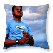 Satisfied At Day's End Throw Pillow by Lisa Holland-Gillem